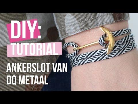 Sieraden maken: Navy style armband met anker slot van DQ metaal ♡ DIY