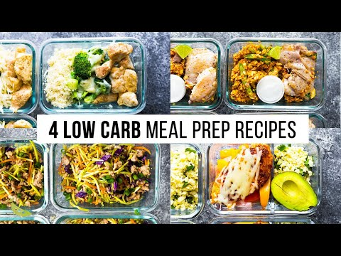 4 LOW CARB meal prep recipes
