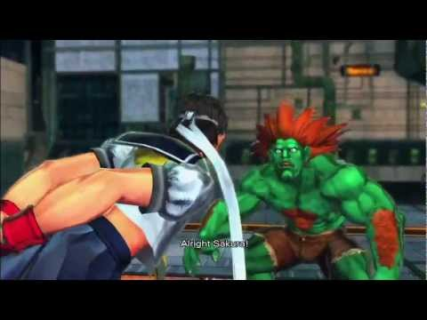 Street Fighter X Tekken (Xbox 360) Arcade as Sakura/Blanka