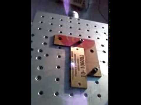 黄铜深度打标Depth marking on brass meterials   Qingdao Mingzu Laser Technology Co , Ltd China