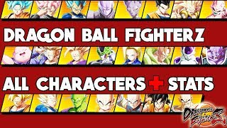 DRAGON BALL FIGHTERZ ALL CHARACTER CARDS AND STATS!!! HD