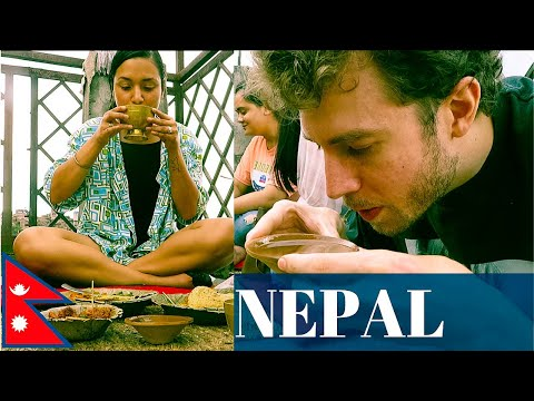 AMERICAN Eats NEWARI FOOD In KIRTIPUR NEPAL | Would You Try This!? नेवारी खाना सेट