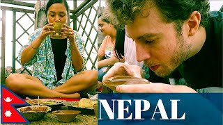 AMERICAN Eats NEWARI FOOD In KIRTIPUR NEPAL | Would You Try This!? नेवारी खाना सेट