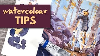Tips for Loose & Colourful Watercolour // Draw With Me
