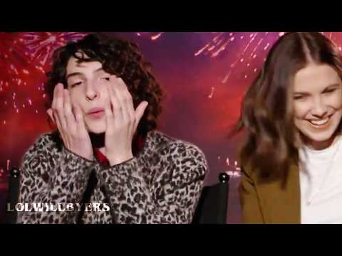 some of the stranger things cast being themselves for 2 minutes straight