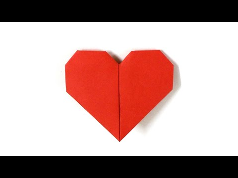 Paper Heart | easy paper heart | how to make paper heart | paper craft idea | origami heart