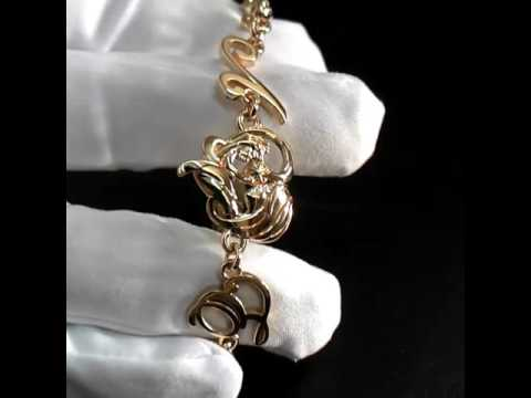 Золотой браслет мать и дитя 👶 на руку с инициалами. Возможно изготовление в золоте или серебре