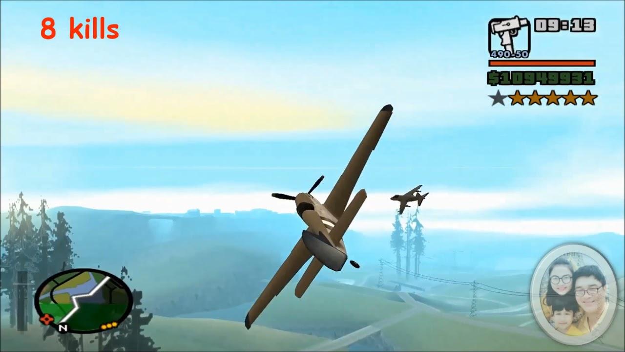 GTA SAN Rustler vs Hydra dogfight เครื่องบินใบพัดปะทะเครื่องบินเจ็ท