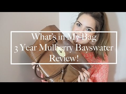 Mulberry Bayswater Review- 3 years on & Whats In My Bag! | Alice Chidgey