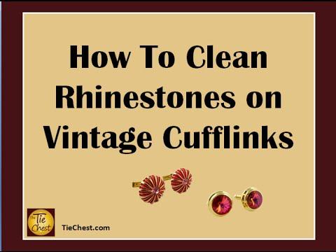 How To Clean Rhinestones on Cufflinks