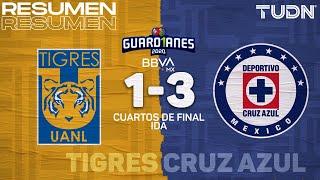 Resumen y goles | Tigres 1-3 Cruz Azul | Cuartos IDA - Guard1anes 2020 Liga BBVA MX | TUDN