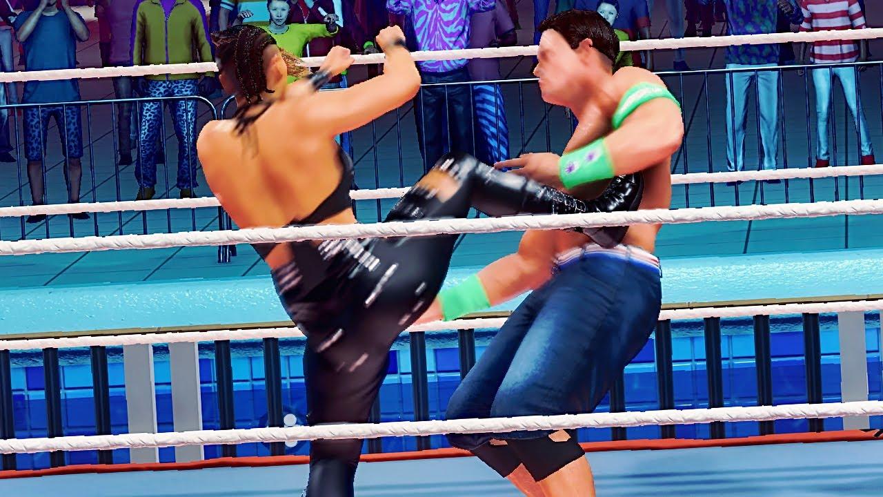 WWE 2K20: Rhea Ripley vs John Cena 2, Intergender wresting