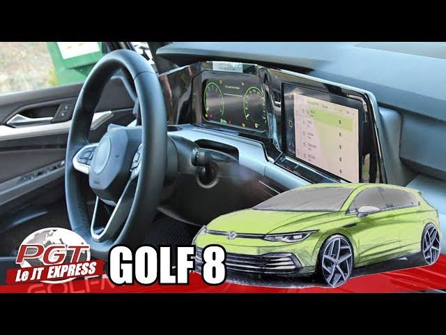 VW GOLF 8 : Un intérieur copié sur la Classe A ? - PJT Express
