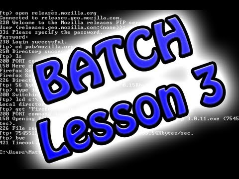 Batch Programing: Lesson 3 (Create Text Files and Extract from them)