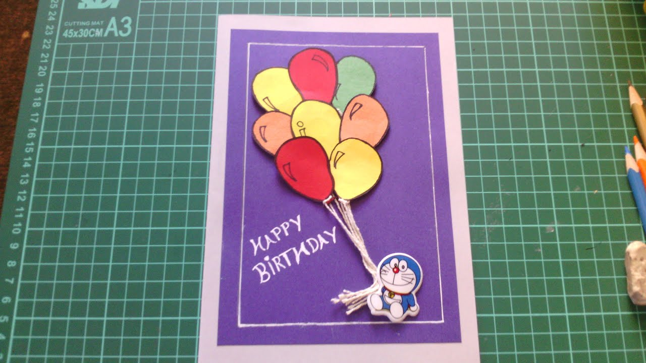 Handmade birthday cards youtube bookmarktalkfo Gallery