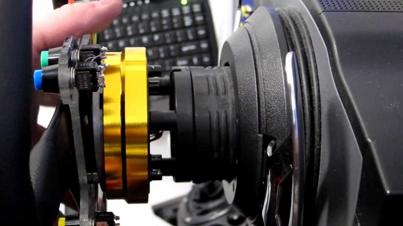 Thrustmaster T500 With Slimline Quick Release Youtube