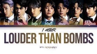 [1 HOUR] BTS Louder than bombs Lyrics (방탄소년단 Louder than bombs 가사) [Color Coded Lyrics/Han/Rom/Eng]
