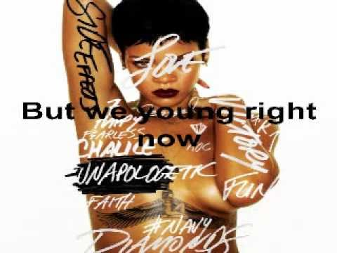 Rihanna - Right Now (feat. David Guetta) (Unapologetic Album 2012) (Lyrics On Screen)