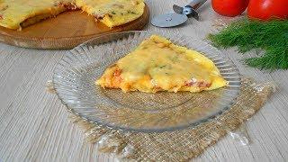 Пицца на сковороде 10 минут и готово! А какая вкусная!