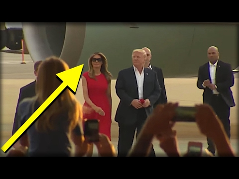 MINUTES AFTER TRUMP WALKED OFF PLANE, MELANIA WALKED ONSTAGE & DID THE UNTHINKABLE!