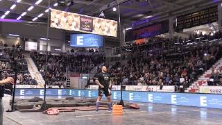 hafr bjrnsson aka the mountain from game of thrones does world record keg toss
