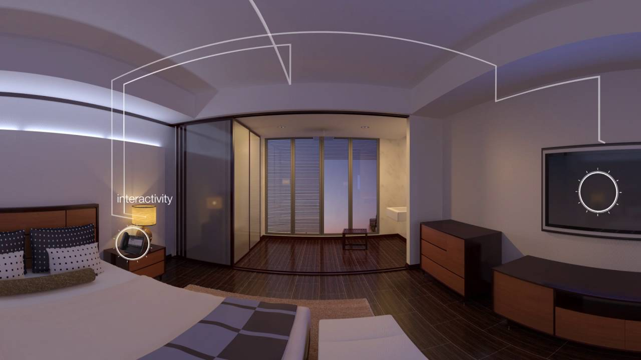 Hospitality demo hotel room 360 vr video youtube for Room design vr