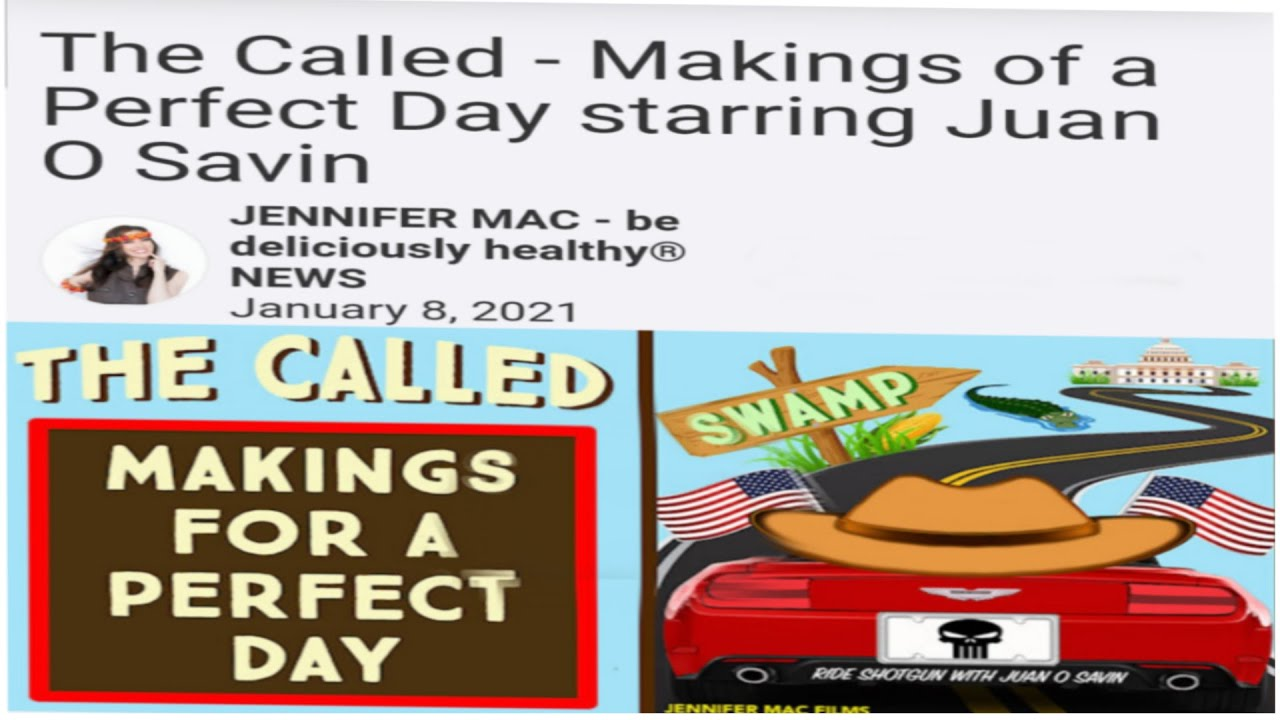 THE CALLED, MAKINGS FOR A PERFECT DAY STARRING   JUAN O'SAVIN  Please subscribe, download and s