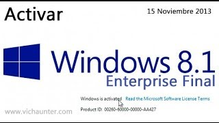 Activar windows 8.1 enterprise [FUNCIONA][01Enero2016][Mega]