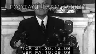 Truman Doctrine Speech to Congress - 250011-14 | Footage Farm Ltd