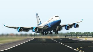 student-pilot-crashes-jumbo-jet-747-on-his-first-landing,-with-heavy-crosswind-x-plane-11