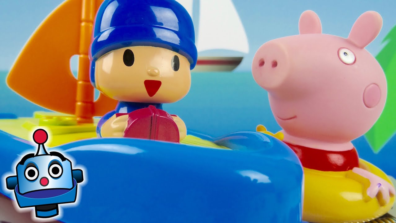 Pig And Boat Dora With Peppa Pocoyo's pGqzSLMVU