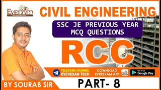 rcc part 8 civil engineering ssc je pre year mcq questions ssc je railway  state exam