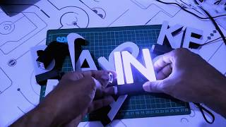 text puzzle led 3d printed house