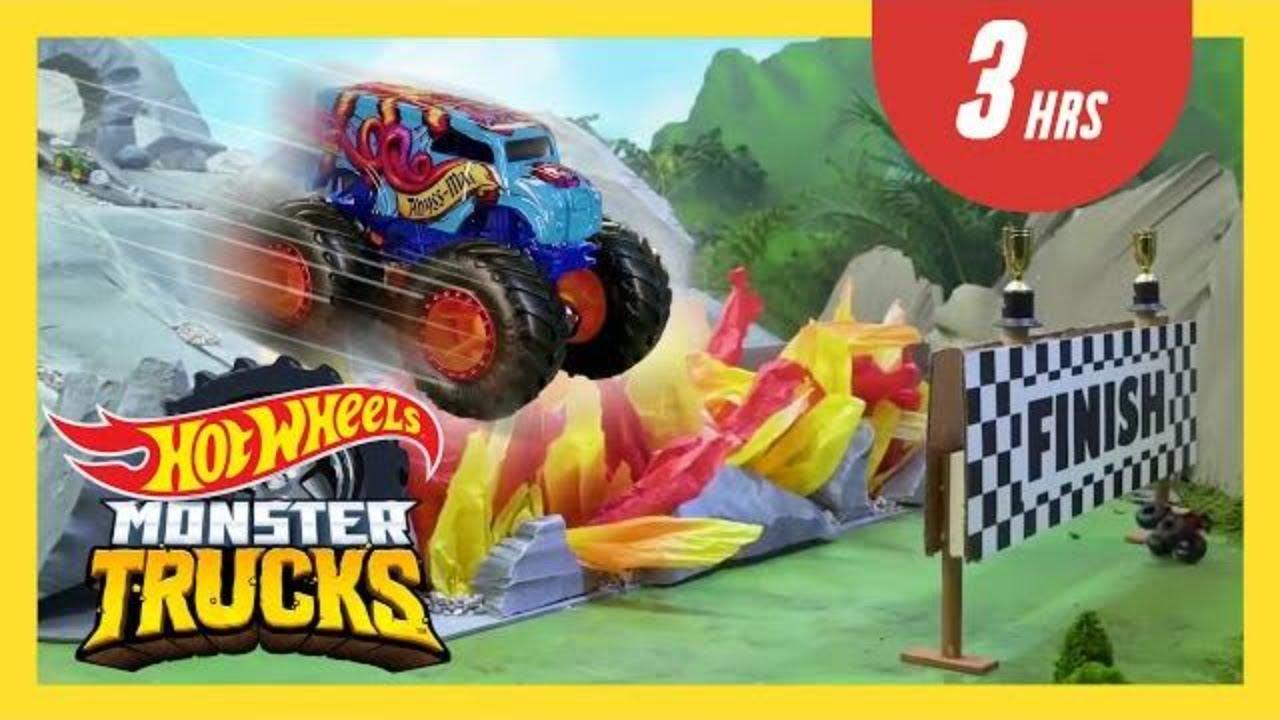 The CRAZIEST Downhill Racing Moments 😱⛰️ | Monster Trucks Tournament of Titans | @HotWheels