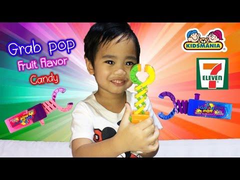 Grab Pop Fruit Flavor Candy จากเซเว่นอิเลฟเว่น by PonPlayPlearn