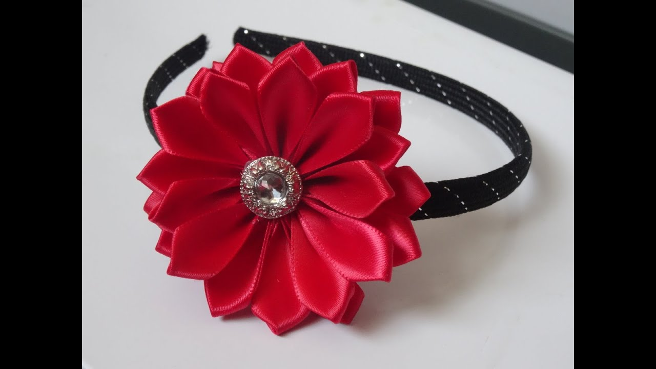 How To Make Ribbon Flower Headband Super Easy Method Youtube