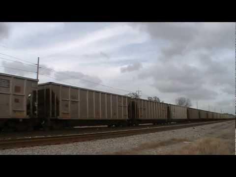 (HD) Sunday Evening Railfanning 2-19-2012