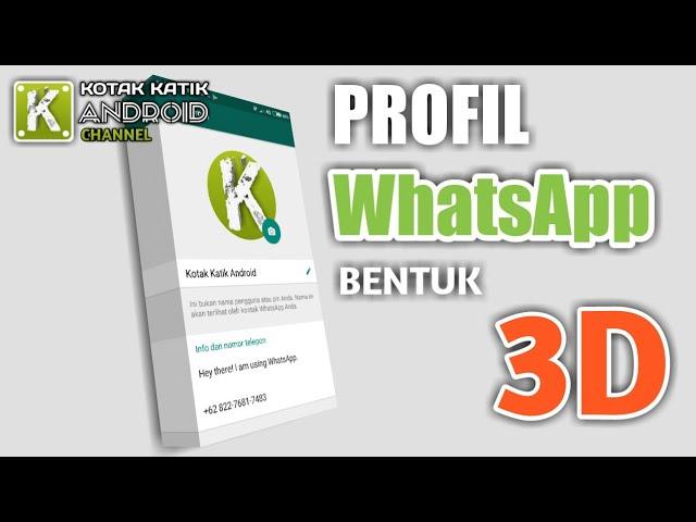 Arti foto profil whatsapp kosong. Lagi Heboh Cara Membuat Profil Whatsapp Berbentuk 3d Kerennn Youtube