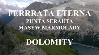 Ferrata Eterna Masyw Marmolady Dolomity.