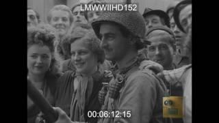 CHERBOURG, FRANCE, GERMANS SURRENDER EN MASSE TO US TROOPS; US SOLDIERS MOVE THROUGH S - LMWWIIHD152