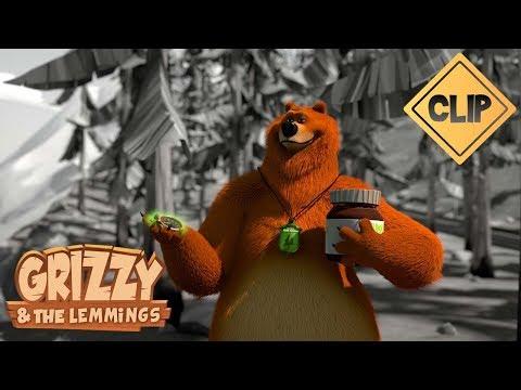 Grizzy joue avec un chronomètre magique - Grizzy & les Lemmings