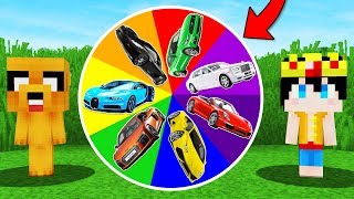 !LA RULETA DE LOS CARROS EN MINECRAFT! 🎯🔫 CARRO NOOB VS CARRO PRO (MINECRAFT MODS)