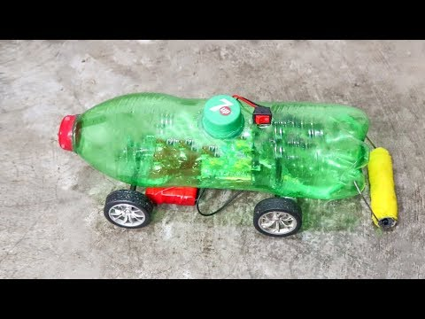 How to Make a Floor Cleaning Machine Using plastic bottle and Dc Motor - DIY House cleaning Machine