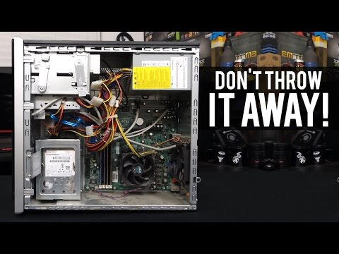 Which Parts Can You Reuse From an Old PC? (ft. My Dad's Old Desktop!)