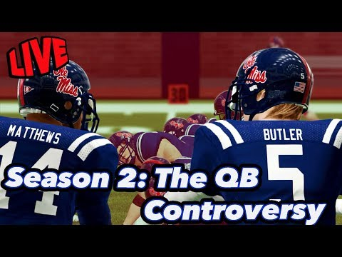 The QB Controversy | NCAA Football Dynasty | Ole Miss Season 2