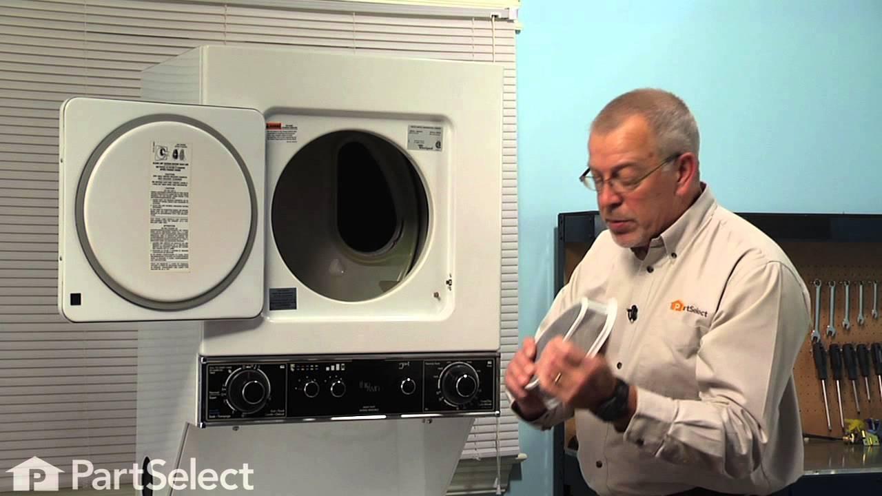 Dryer Repair Replacing The Lint Filter Cover Whirlpool