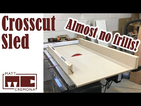 Simple Table Saw Crosscut Sled - YouTube