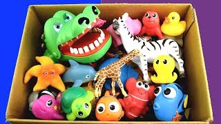 �������� ���� Box of Wild Zoo Animals Farm Animals | Learn Animal Names Educational Toys For Kids ������