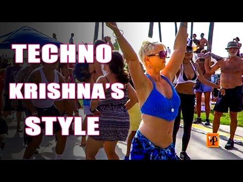 Hare Krishna Dance Party in Venice Beach California by DJ SRI & JOAKIN, Pt. 3/4
