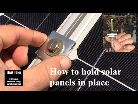 "How to mount solar panels with Superstrut flat washers, spring nuts, 3/8"" Grade 8 bolts (3"")"